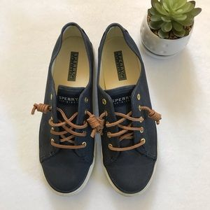 Sperry Top Sider Shoes Navy Size 8
